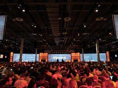 Um congresso para desenvolvedores da AWS em Las Vegas (EUA).