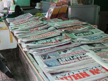 Meios de comunicação privados são proibidos no Vietnã e os jornais, rádios e televisões são controlados pelo Governo.