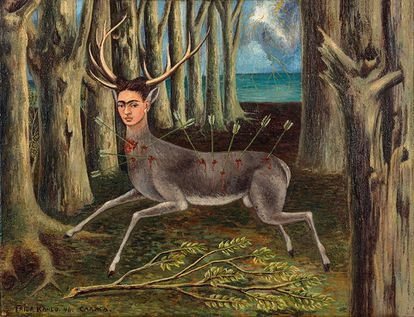 'O veado ferido' (1946), pintura a óleo de Frida Kahlo.
