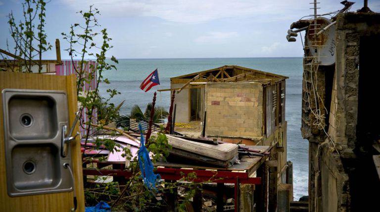 Casas destruídas pelo furacão em San Juan em 2017
