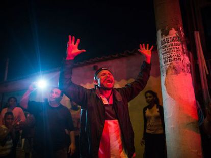 Protesto em Itu contra a falta de água em outubro.