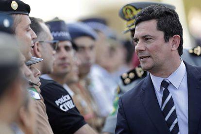 Sergio Mouro, ministro de Justiça, na semana passada em Brasília.