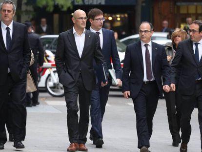 Ex-conselheiros do Governo regional chegam à Audiência Nacional para depor