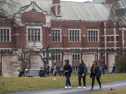 Estudantes em Princeton, Nova Jersey.