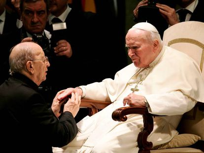 O papa João Paulo II com Marcial Maciel.