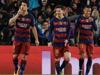 Suárez, Messi e Neymar esperam pelo Atlético.