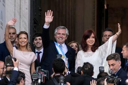 Alberto Fernández e Cristina Fernández (à direita), em dezembro de 2019.