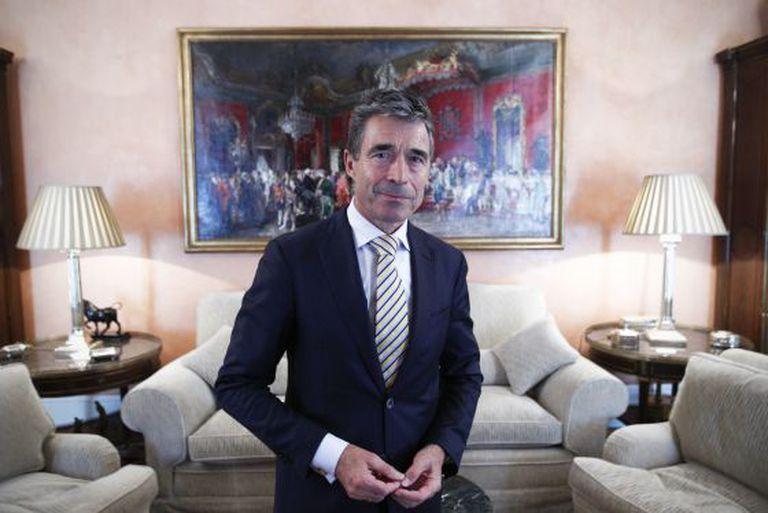Anders Fogh Rasmussen, nesta quinta-feira em Madri.