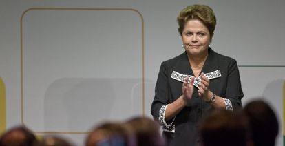 A presidenta Dilma, que publicamente defende a operação da PF.