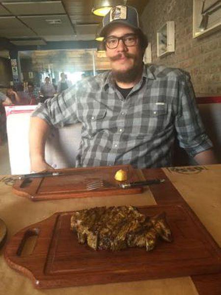 Renzo Garibaldi, em seu restaurante.