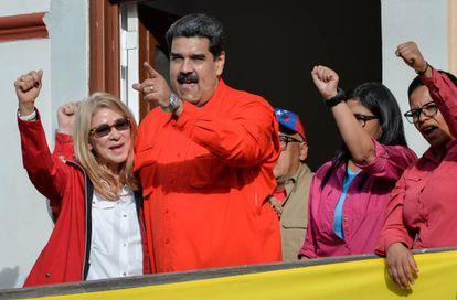 Maduro após fazer um pronunciamento em Caracas nesta quarta-feira.