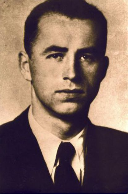 Retrato do nazista Alois Brunner.