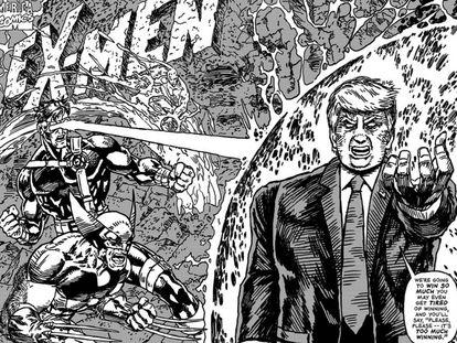 Capa de 'X-Men' com Trump.