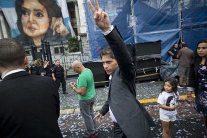 O atual governador da província de Buenos Aires, Axel Kicillof, participa da abertura do ano legislativo em março de 2015.