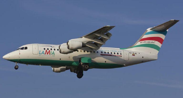 Um dos aviões da linha aérea LAMIA.