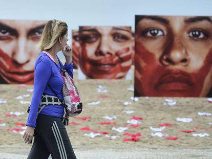 Exposição faz protesto contra a cultura do estupro