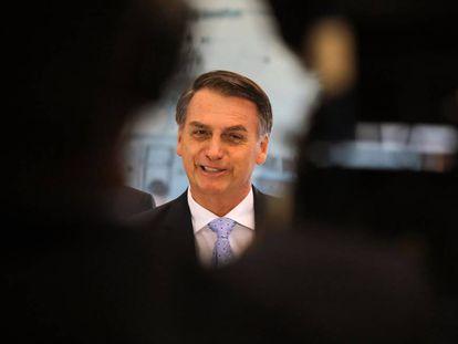 O presidente eleito Jair Bolsonaro em Brasília, nesta quinta-feira.