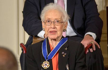 Katherine Johnson, com a Medalha Presidencial da Liberdade