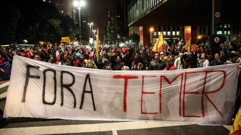 Manifestação na Avenida Paulista