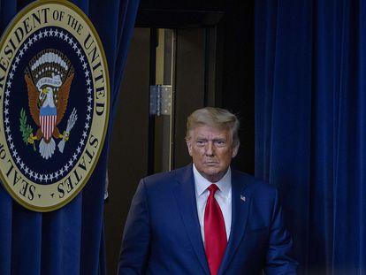 Donald Trump na terça-feira em Washington.