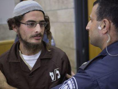 O líder radical judeu Meir Ettinger, na terça-feira, em um tribunal de Nazaré.