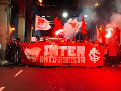 Torcida antifascista do Internacional de Porto Alegre.