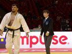 El judoca Fethi Nourine durante un combate.