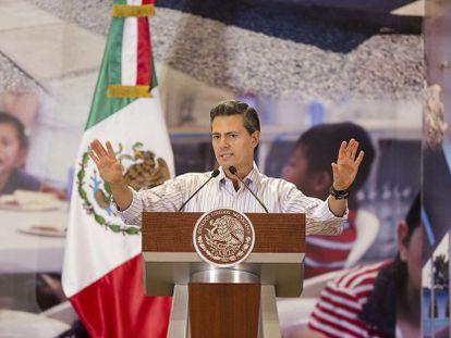 O presidente Enrique Peña Nieto, na quinta-feira passada, durante um ato em Guerrero em que anunciou medidas para reativar a economia do Estado.