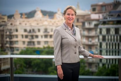 A cientista Frances Arnold, retratada em Barcelona antes da entrevista.
