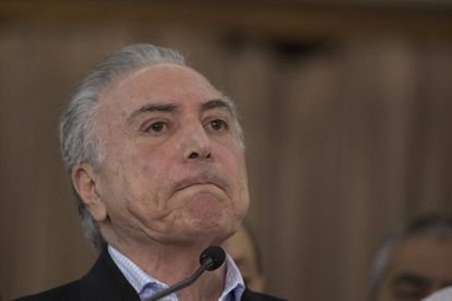 Temer, em uma coletiva de imprensa no Rio de Janeiro, no domingo