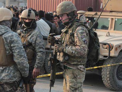Soldados norte-americanos no Afeganistão, em 2015.