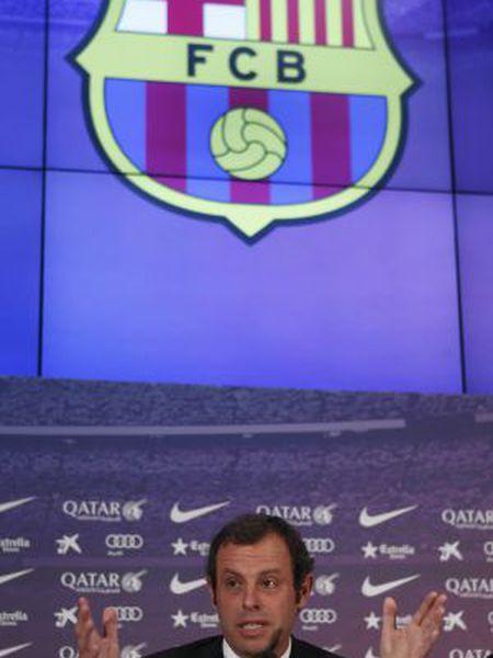 Sandro Rosell, durante coletiva de imprensa.