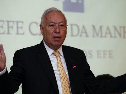 Ministro espanhol de Relações Exteriores, José Manuel García-Margallo, na quinta-feira, em São Paulo.