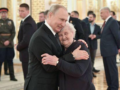 Vladimir Putin, durante uma recepção no Kremlin, em 9 de maio.