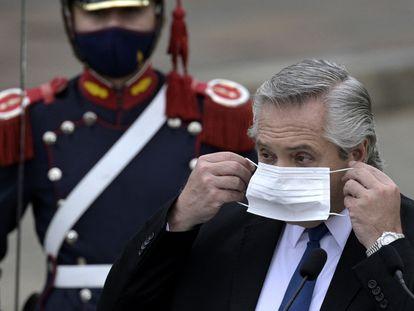 O presidente argentino, nesta quarta-feira, em Buenos Aires.