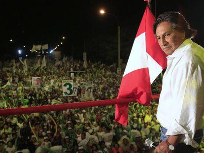Alejandro Toledo, durante a campanha eleitoral em 2011.
