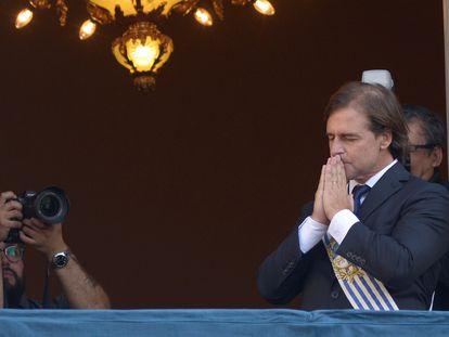 O novo presidente do Uruguai, Luis Lacalle Pou, durante a posse.