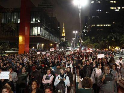 Protesto contra Temer na Paulista na quinta-feira.