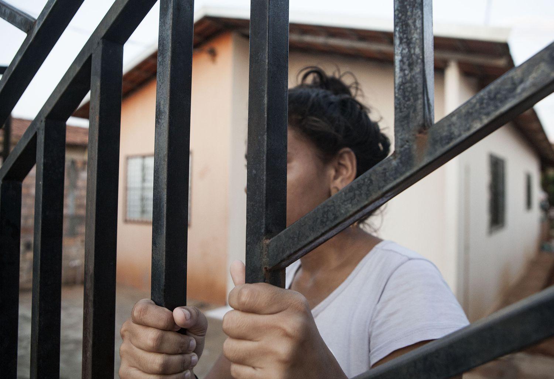 Uma das casas dos Reassentamentos Urbanos Coletivos (RUCs), para onde foram forçadamente removidos os atingidos por Belo Monte, a maioria deles moradores da beira do rio.