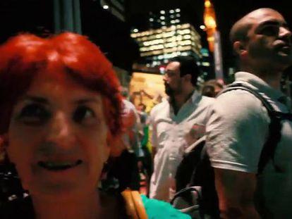 Ato anti-Dilma no coração de São Paulo.