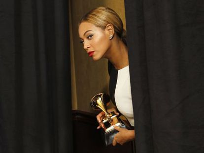 Beyoncé, durante os prêmios Grammy de 2013 em Los Angeles.