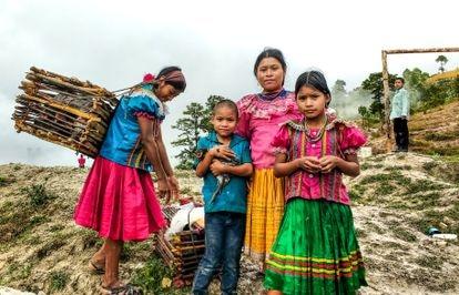 Membros da comunidade do Corredor Seco da Guatemala.