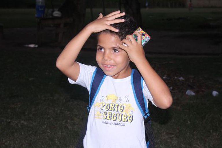 Antônio Gabriel, o garoto de Lagarto que Diego Costa homenageou ao marcar um gol.