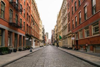 O Soho de Nova York, quase deserto, na sexta-feira.