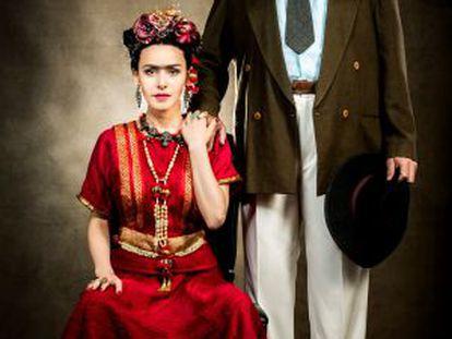 Leona Cavalli e José Rubens Chachá caracterizados.