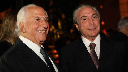 O advogado José Yunes e o presidente Michel Temer, em uma imagem de arquivo.
