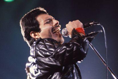 Freddie Mercury, em uma imagem de arquivo em um show.
