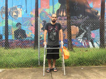 Luis Orozco, 24 anos, nesta semana em Miami