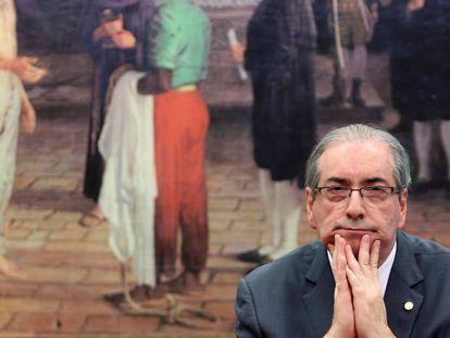 Eduardo Cunha, o criador do 'centrão', no dia 14, na Câmara.