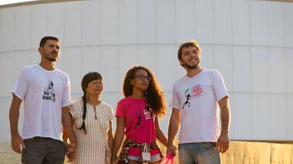Eduardo, Airy, Nádia e Thiago, candidatos a 'codeputados' em Brasília.